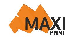 Логотип рекламного агентства MAXI принт г. Пермь